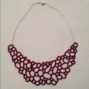 "Jewelry - Bead ""lace"" necklace"
